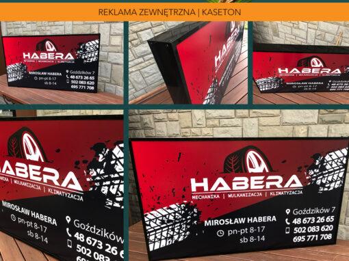 Kaseton reklamowy Wulkanizacja Habera