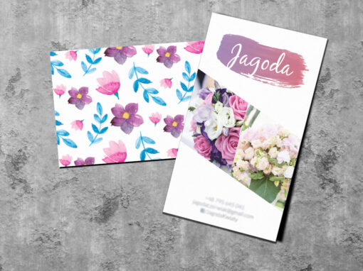 Wizytówki dla kwiaciarni