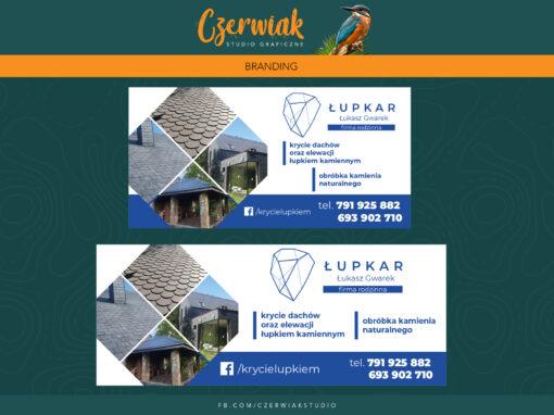 Banery i wizytówki dla firmy Łupkar