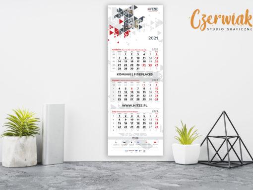 Kalendarze trójdzielne reklamowe
