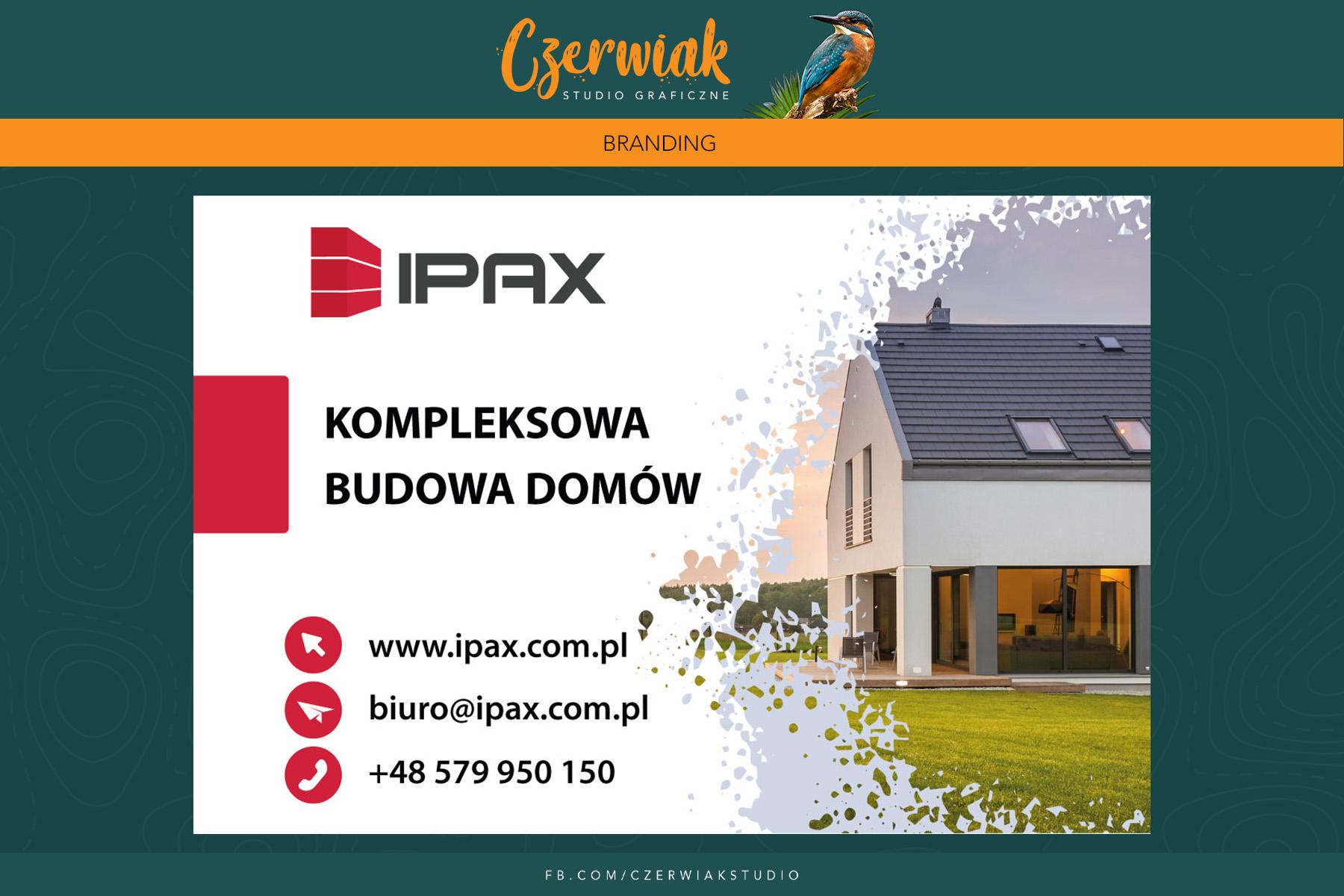 IPAX strona internetowa dla firmy zajmującej się kompleksową budową domów