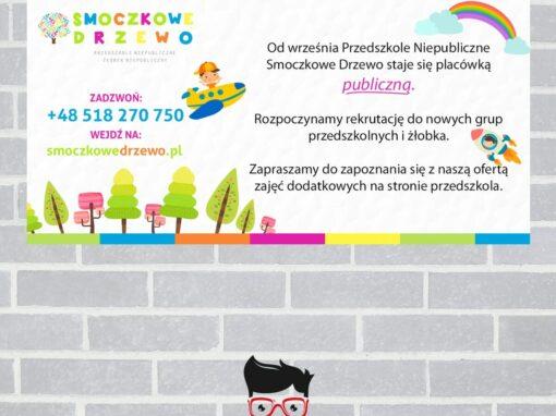 Baner dla przedszkola / Smoczkowe Drzewo